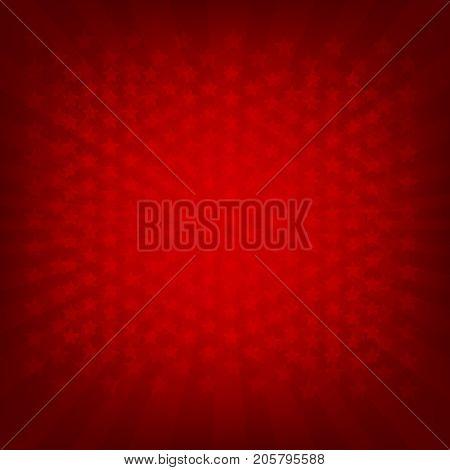 Red Sunburst Banner