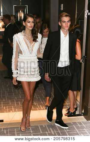 NEW YORK-SEPT 08: Models Kaia Gerber (L) and Presley Gerber attend Daily Front Row's Fashion Media Awards at Four Seasons Hotel New York Downtown on September 8, 2017 in New York City.