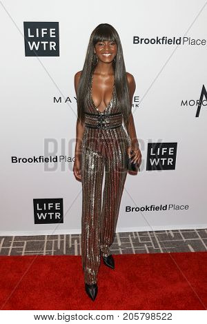 NEW YORK-SEPT 08: Model Ebonee Davis attends Daily Front Row's Fashion Media Awards at Four Seasons Hotel New York Downtown on September 8, 2017 in New York City.