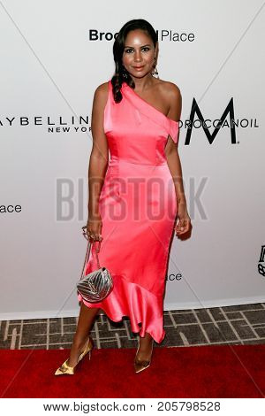NEW YORK-SEPT 08: Taye Hansberry attends Daily Front Row's Fashion Media Awards at Four Seasons Hotel New York Downtown on September 8, 2017 in New York City.