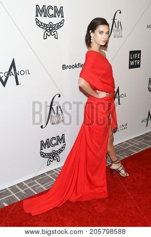 NEW YORK-SEPT 08: Video blogger Amanda Steele attends Daily Front Row's Fashion Media Awards at Four Seasons Hotel New York Downtown on September 8, 2017 in New York City.