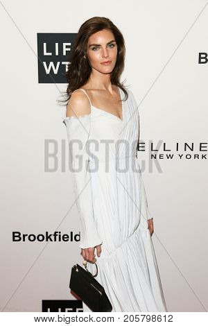 NEW YORK-SEPT 08: Model Hilary Rhoda attends Daily Front Row's Fashion Media Awards at Four Seasons Hotel New York Downtown on September 8, 2017 in New York City.