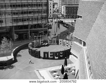 Forward At Tate Modern Tavatnik Building In London Black And White