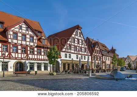 Market square in Lauf an der Pegnitz Bavaria Germany