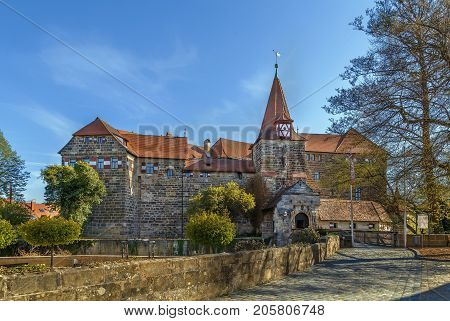 Castle in Lauf an der Pegnitz also known as the Wenzelschloss - was built by Charles IV in 1356 Germany