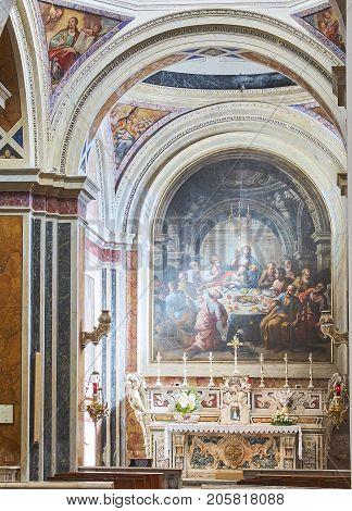 Papal Basilica Cathedral Of Brindisi, Apulia, Italy.