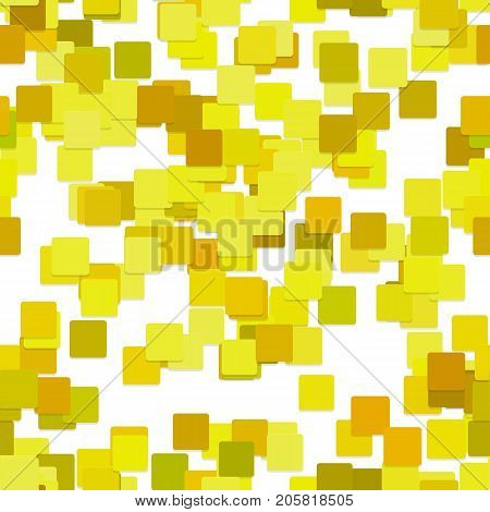 Seamless abstract chaotic square pattern background - vector design from yellow squares with shadow effect