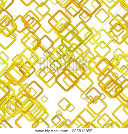 Seamless chaotic diagonal square background pattern - vector design from rounded squares with shadow effect