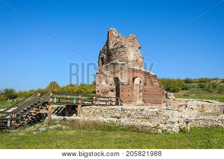 Archaeological remains of the Red Church near Perushtitsa, Bulgaria, 5-th century