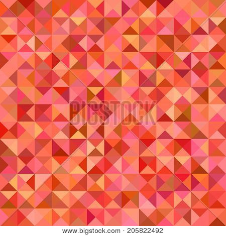 Abstract triangle tile mosaic background - vector graphic from triangles in red colorful tones