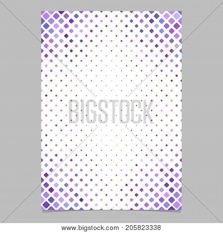 Color diagonal square pattern brochure background template - vector graphic design from squares in purple tones for presentations