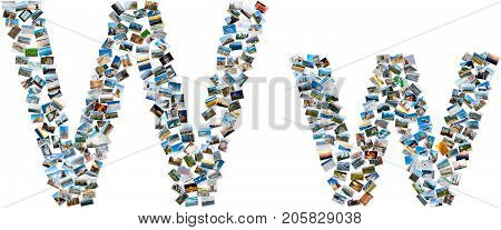 Collage Of Photos Forming English Alphabet