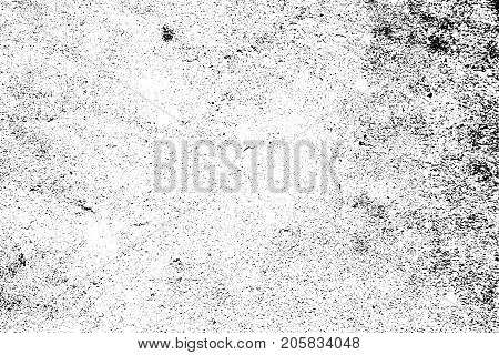Distressed halftone grunge black and white vector texture -texture of concrete floor background for creation abstract vintage effect with noise and grain.