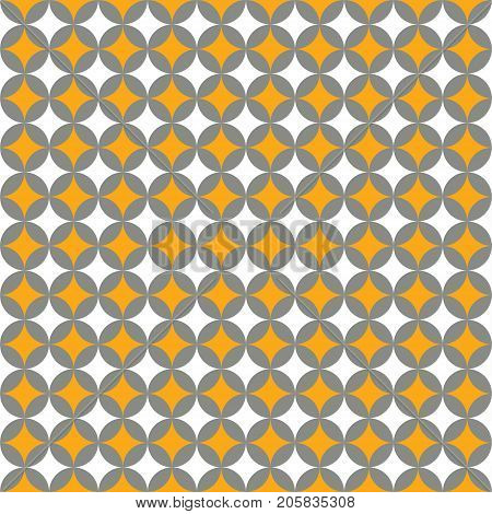 Seamless Intersecting Geometric Vintage Pattern Texture Background