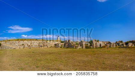 Castle of Ayia Mavra at Lefkada island, Greece