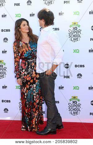 LOS ANGELES - SEP 8:  Nikki Reed, Ian Somerhalder at the EIF Presents: XQ Super School Live at the Barker Hanger on September 8, 2017 in Santa Monica, CA
