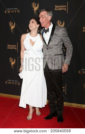 LOS ANGELES - SEP 9:  Rachel Bloom, Bill Nye at the 2017 Creative Emmy Awards at the Microsoft Theater on September 9, 2017 in Los Angeles, CA