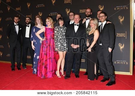 LOS ANGELES - SEP 9:  Colbert Crew at the 2017 Creative Emmy Awards at the Microsoft Theater on September 9, 2017 in Los Angeles, CA