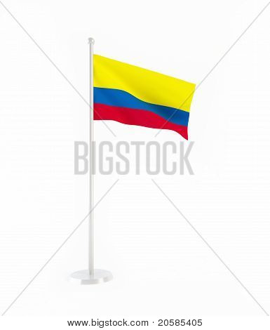 3D flag of Colombia