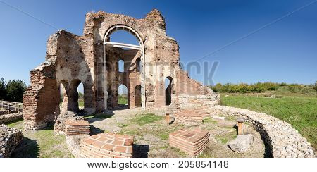 Archaeological remains of the Red Church near Perushtitsa Bulgaria Eastern Europe 5-th century