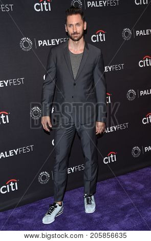 LOS ANGELES - SEP 08:  Derek Wilson arrives for the PaleyFest Fall Preview - 'Future Man' on September 8, 2017 in Beverly Hills, CA