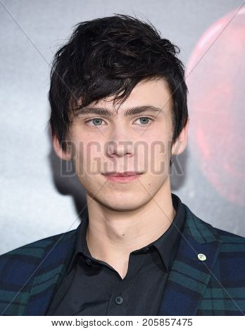 LOS ANGELES - SEP 05:  Owen Teague arrives for the 'IT' World Premiere on September 5, 2017 in Hollywood, CA