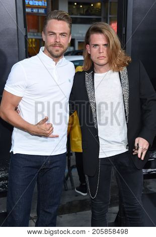 LOS ANGELES - SEP 05:  Derek Hough and Giovanni Spano arrives for the 'IT' World Premiere on September 5, 2017 in Hollywood, CA
