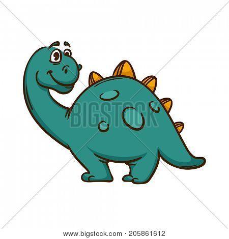 Dinosaur cartoon cute monster