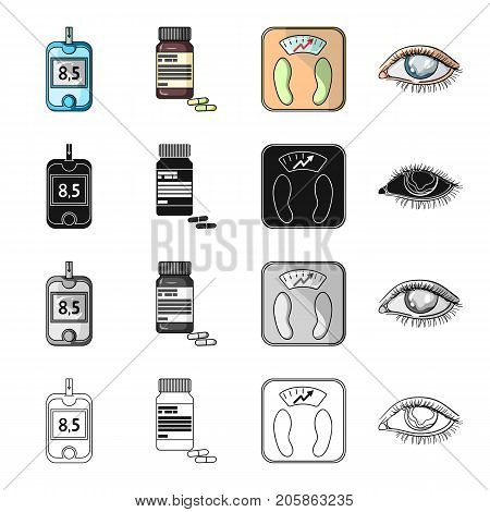 Apparatus, medical, bottle and other  icon in cartoon style.Hospital, polyclinic, diet icons in set collection.