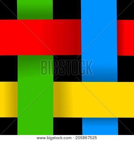 Four colors ribbon interlock