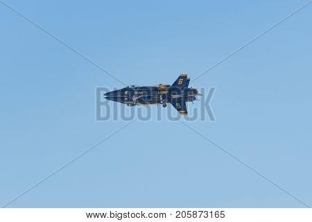 U.s. Navy Blue Angels Performing At The Miramar Air Show