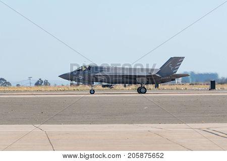 Lockheed Martin F-35B Lightning Us Marine Corps Performing At The Miramar Air Show