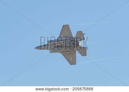 Lockheed Martin F-35B Lightning Us Marine Corps Performing At The Miramar Air Show