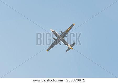 Fh227 Aircraft Of The Us Army Golden Knights Parachute Display Teammiramar Air Show