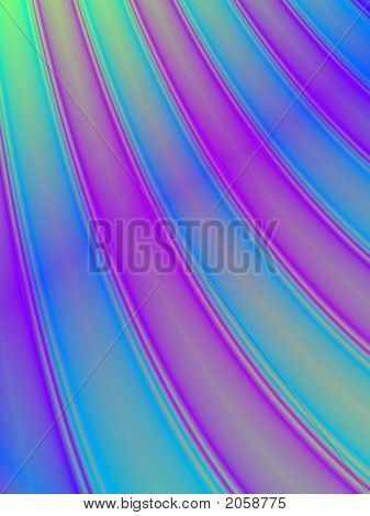 Fractal rendition of colored curves back ground poster