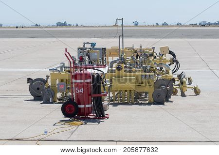 Aviation Fuel System At The Miramar Air Show