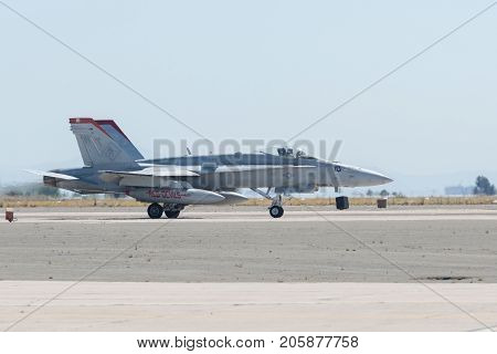 Marines F/a-18C Hornet Vmfa-232, Red Devils Performing At The Miramar Air Show