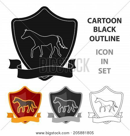 Equestrian blaze icon in cartoon design isolated on white background. Hippodrome and horse symbol stock vector illustration.