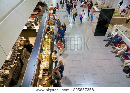 SAINT PETERSBURG, RUSSIA - CIRCA AUGUST, 2017: inside Pulkovo International Airport