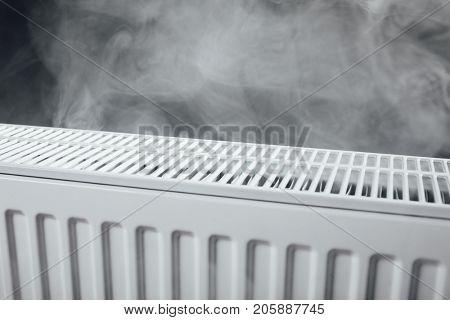 heating radiator with warm steam