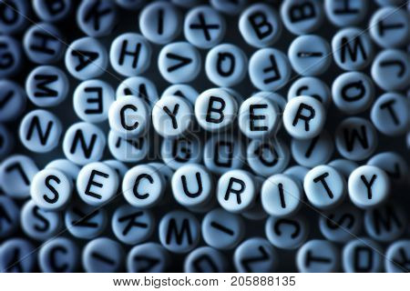Security and encryption. Random alphabets with letters of