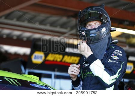 September 08, 2017 - Richmond, Virginia, USA: Brad Keselowski (2)  hangs out in the garage during practice for the Federated Auto Parts 400 at Richmond Raceway in Richmond, Virginia.