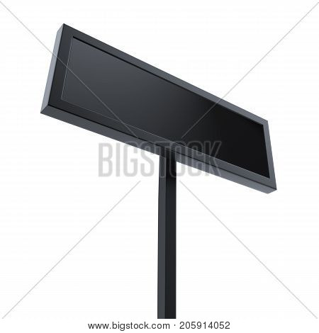 Blank signage isolated on white background - 3D Rendering