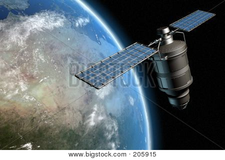 Satellite And Earth 1