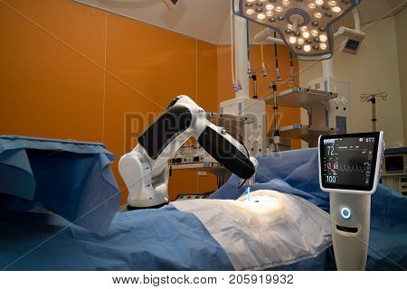advanced robotic surgery machine at Hospitalsome of major advantages of robotic surgery are precision miniaturisation smaller incisions decreased blood loss less pain and quicker healing time