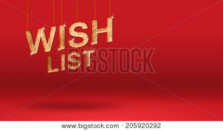 Wish List Wood Texture Number At Red Studio Backdrop,mock Up For Adding Or Display Of Product And Te