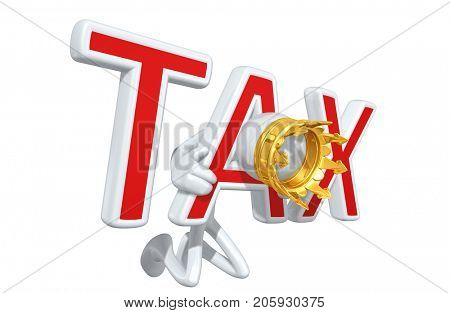 The Original 3D Character King Illustration Trapped In A Tax Yoke