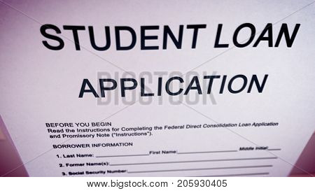Abstract Student Loan Doc Illustration