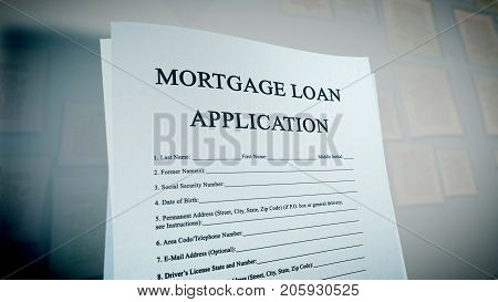 Pop Art Mortgage Loan Illustration
