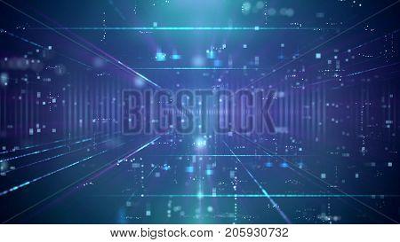 Ultramodern Technology Blue Backdrop